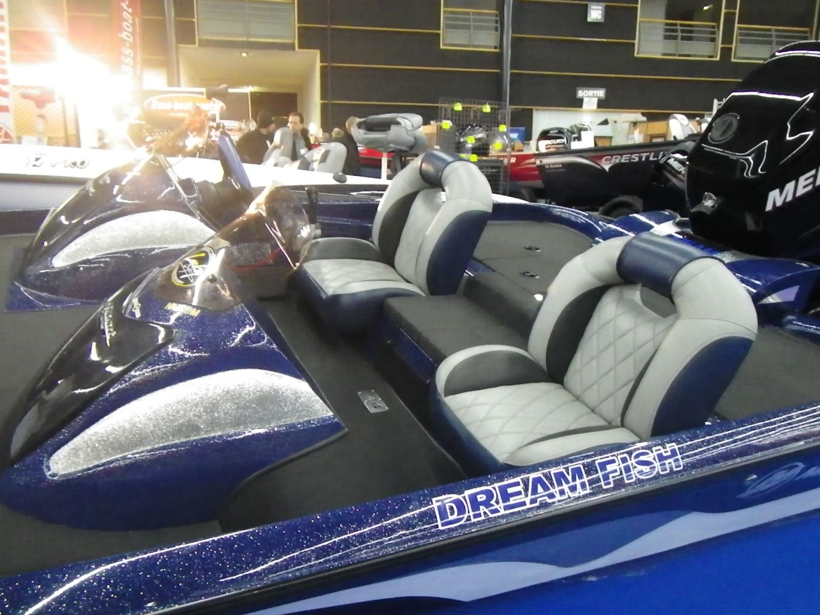 Bass boat france for Dream about fish