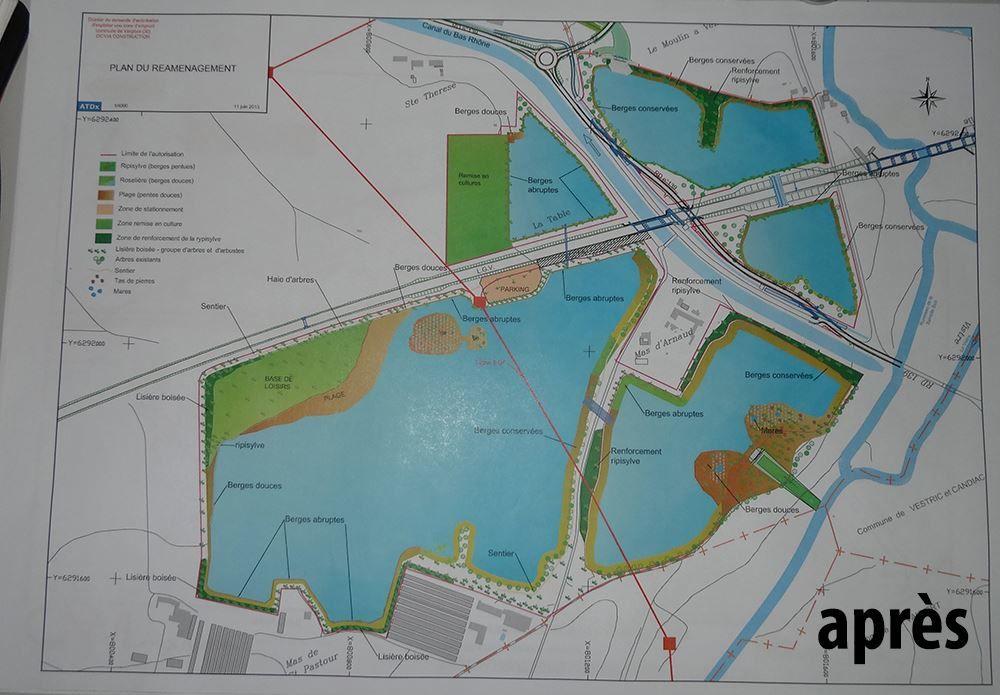 Evolution du cite des étangs de Vergèze