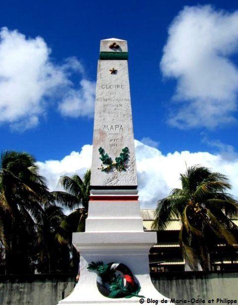 Monument en hommage aux victimes de Mapa à Cayenne