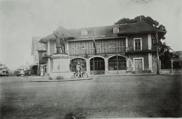La Banque de la Guyane, ancienne banque coloniale à Cayenne.