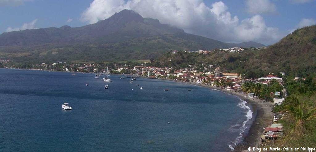 La ville de Saint Pierre en Martinique en 2010