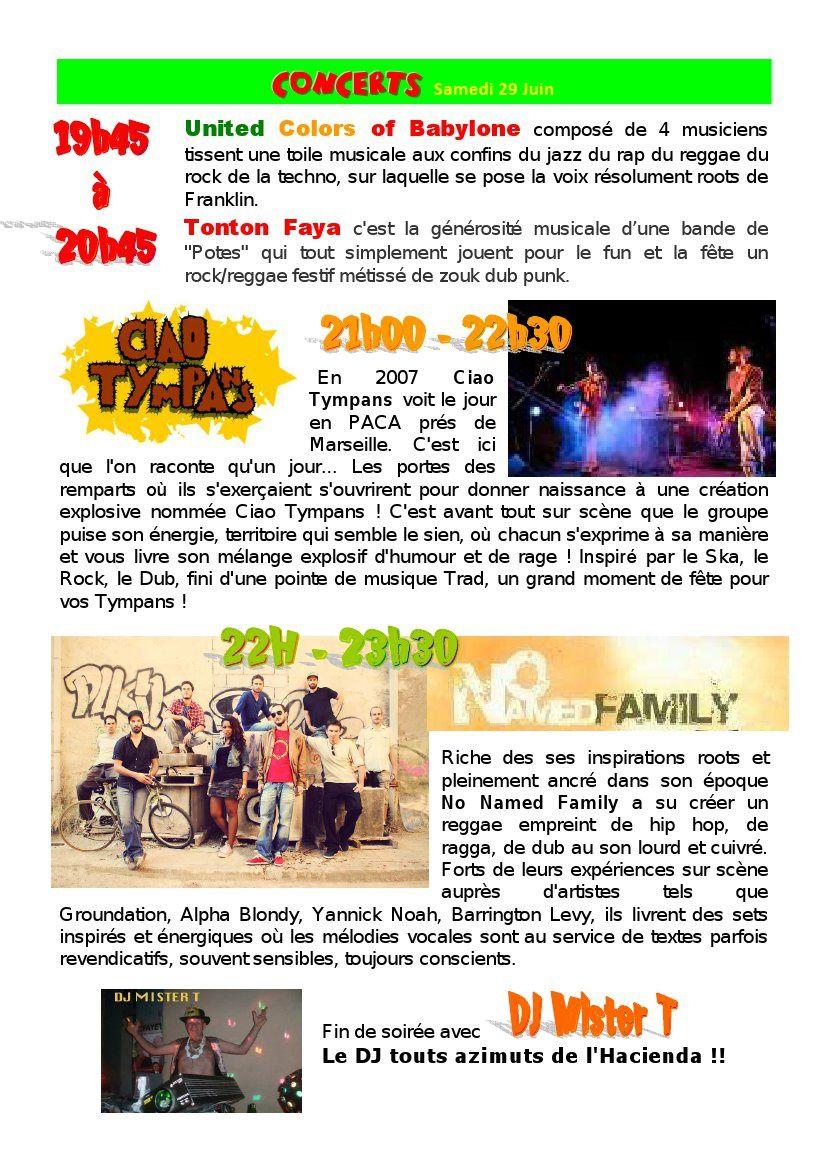Lézan 2013 : Les concerts du Samedi 29 juin