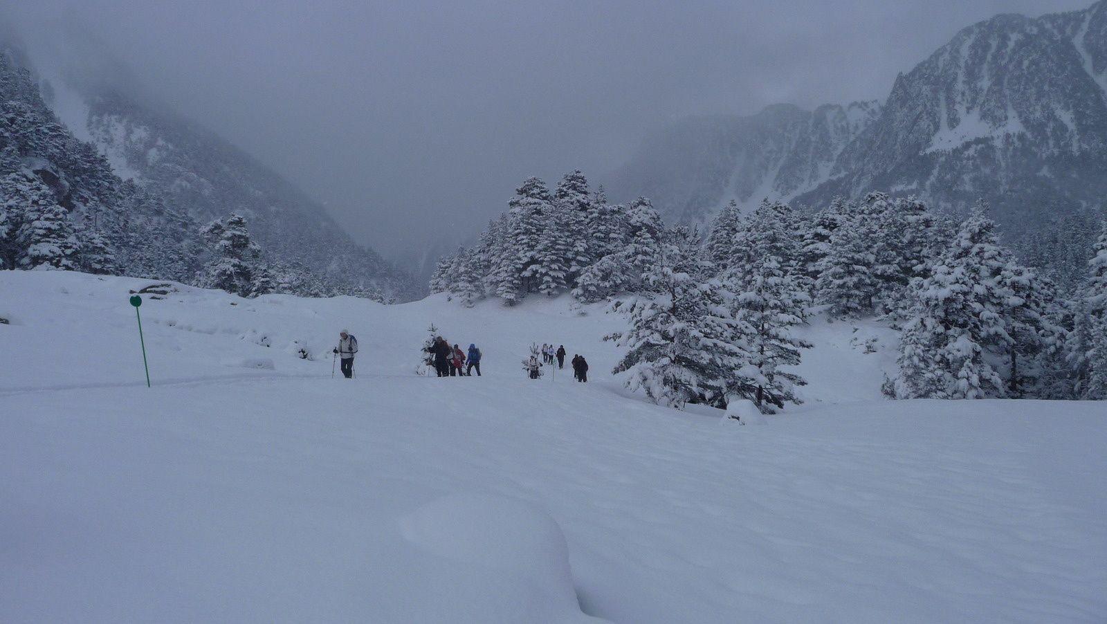 Raquettes dans la vallée du Marcadau (65)