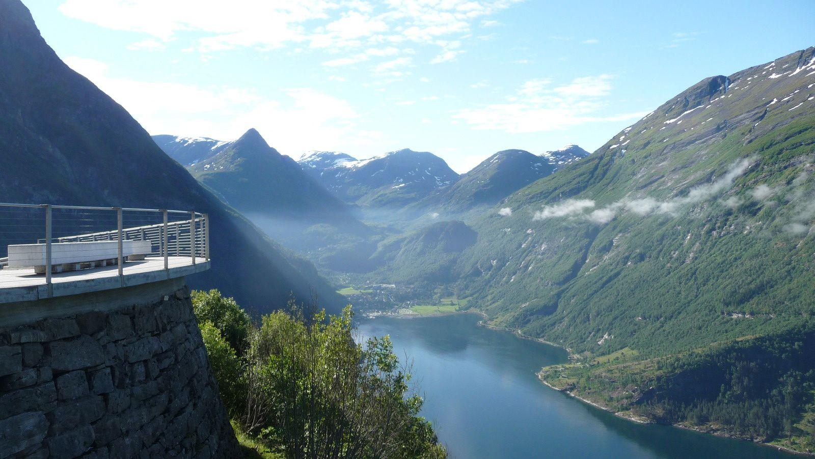 Le belvédère,  le Geirangerfjorden.