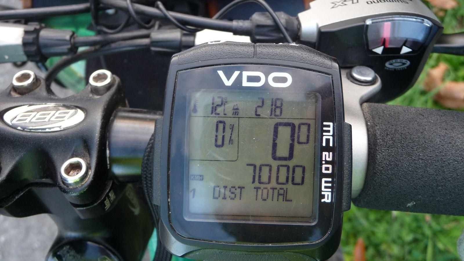 J'ai passé les 7 000 km cette année 2016.