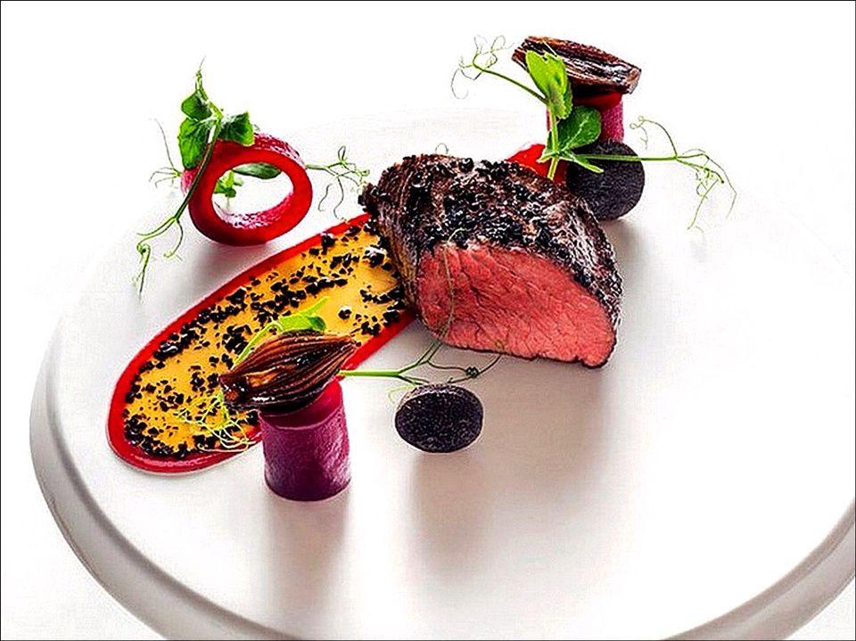 Onglet de b uf visions gourmandes - Decoration d assiette gastronomique ...