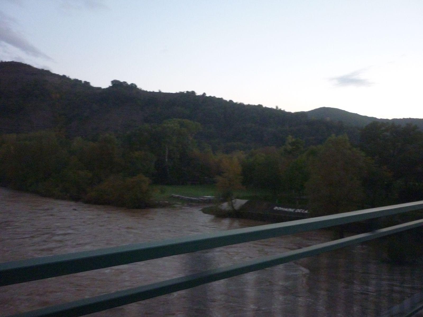 L'Ardèche en crue