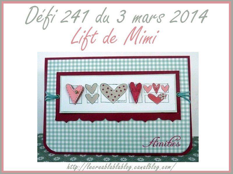 Défi 242 du 17 mars - Lecréablablablog