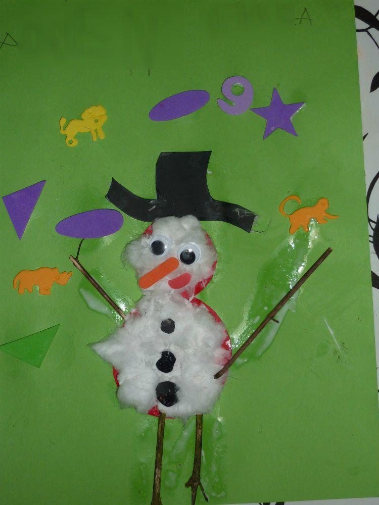 Le bonhomme de neige de Mr A