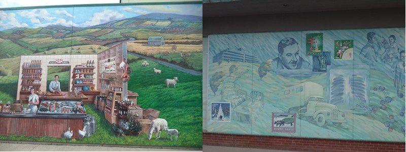 Très belles peintures murales à Mont Joli