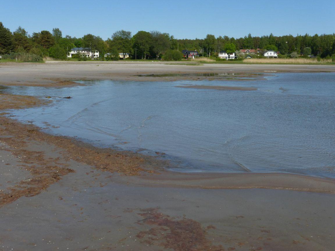 La plage : un rivage vaseux et peu profond, impossible de se baigner là !