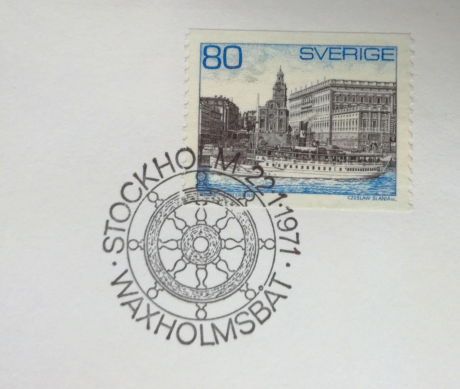 FDC : Waxholms Ångfartygs AB
