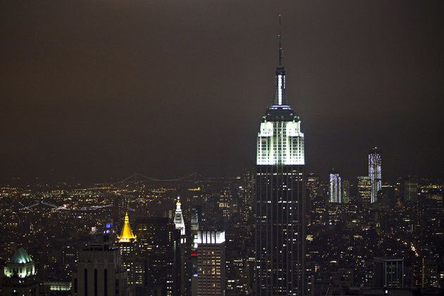 l'empire state building la nuit
