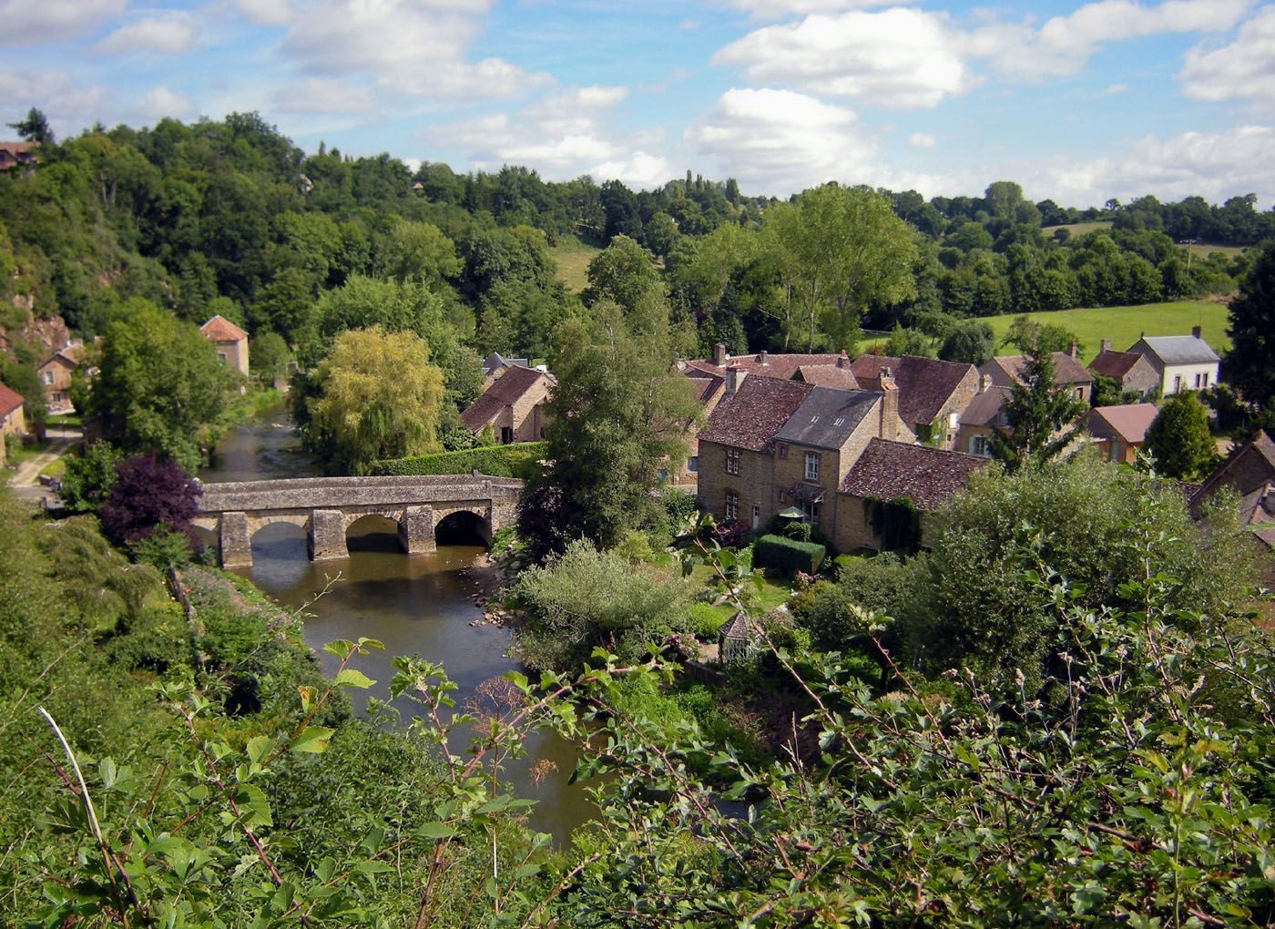 Village de Saint-Ceneri-le-Gerei. (photo rediffusée)