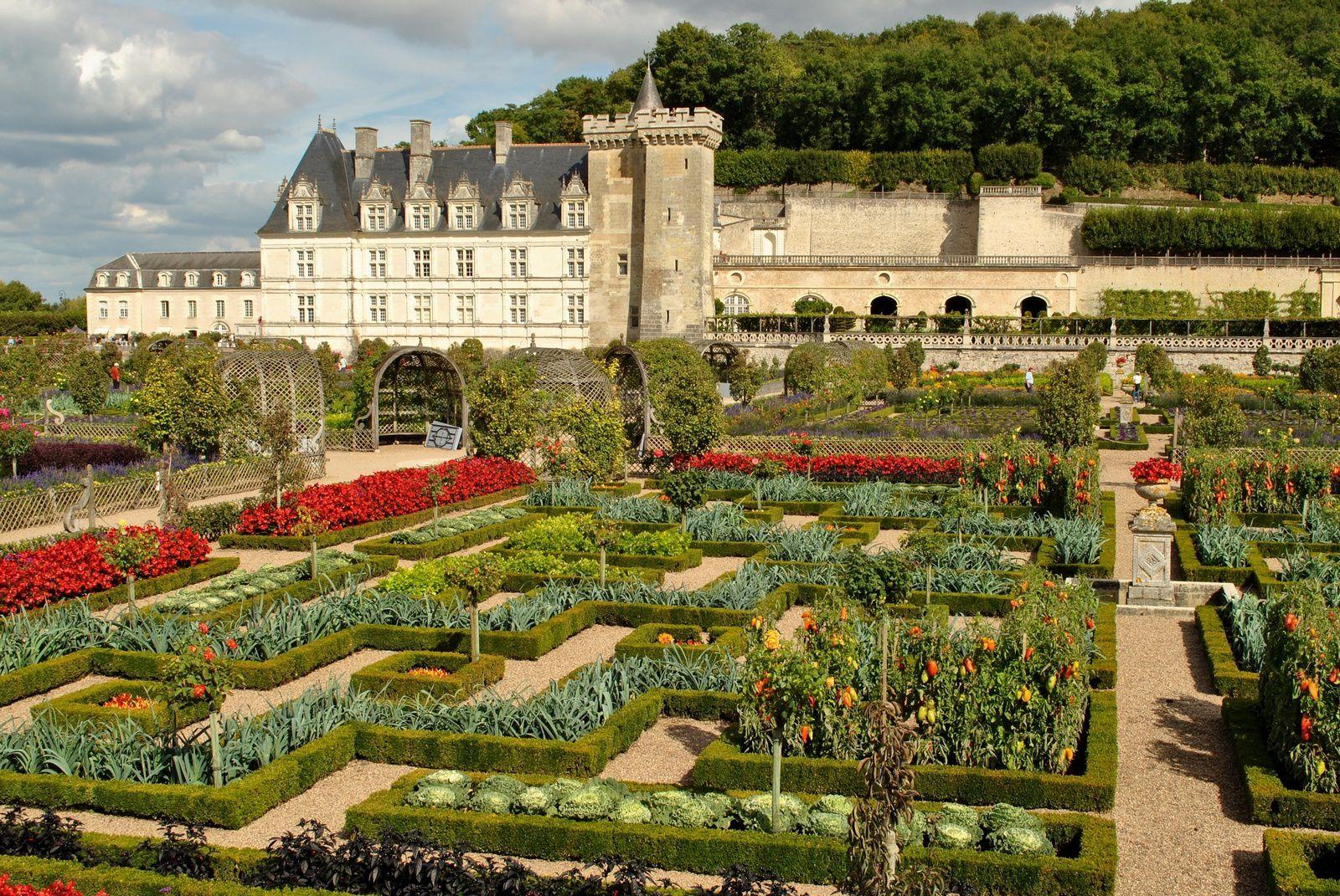 Jardins du château de Villandry: (Photo prise le 25.09.2014)