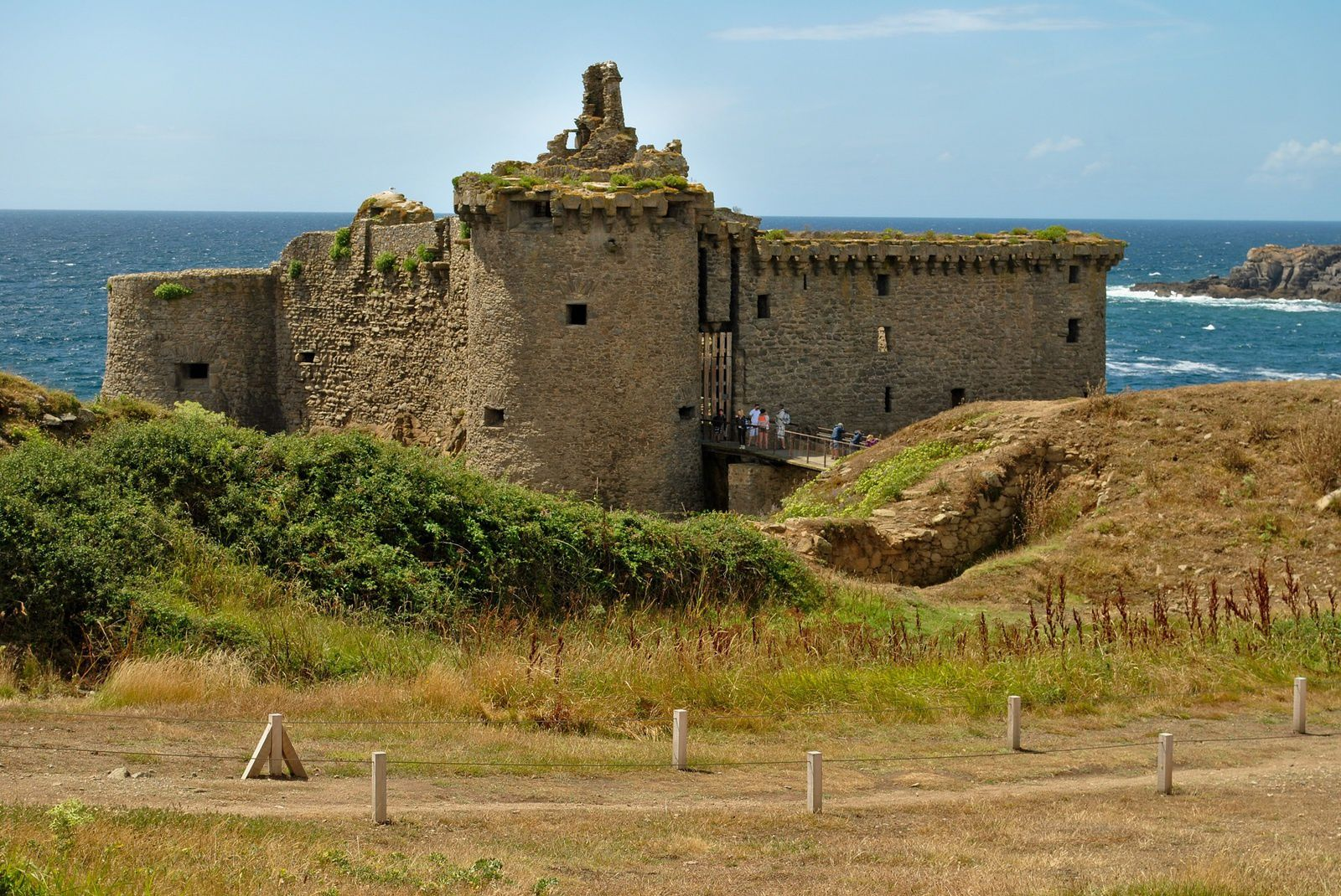 L'Ile d'Yeu: Le vieux château. (Photo rediffusée).