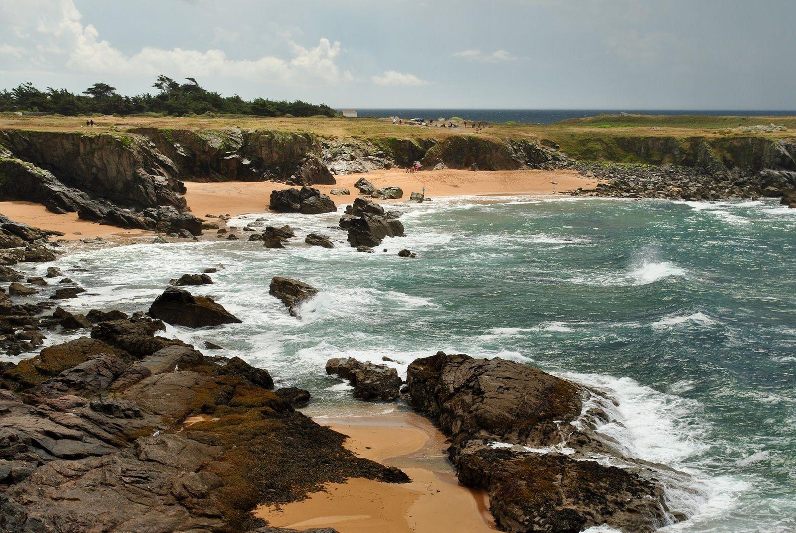L'ile d'Yeu: La côte sauvage. (photo rediffusée)