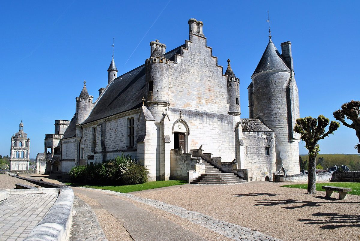Loches: Le logis Royal (Photo prise en Avril 2017)