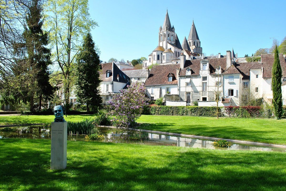 Loches: Le jardin public. (Photo prise en Avril 2017).