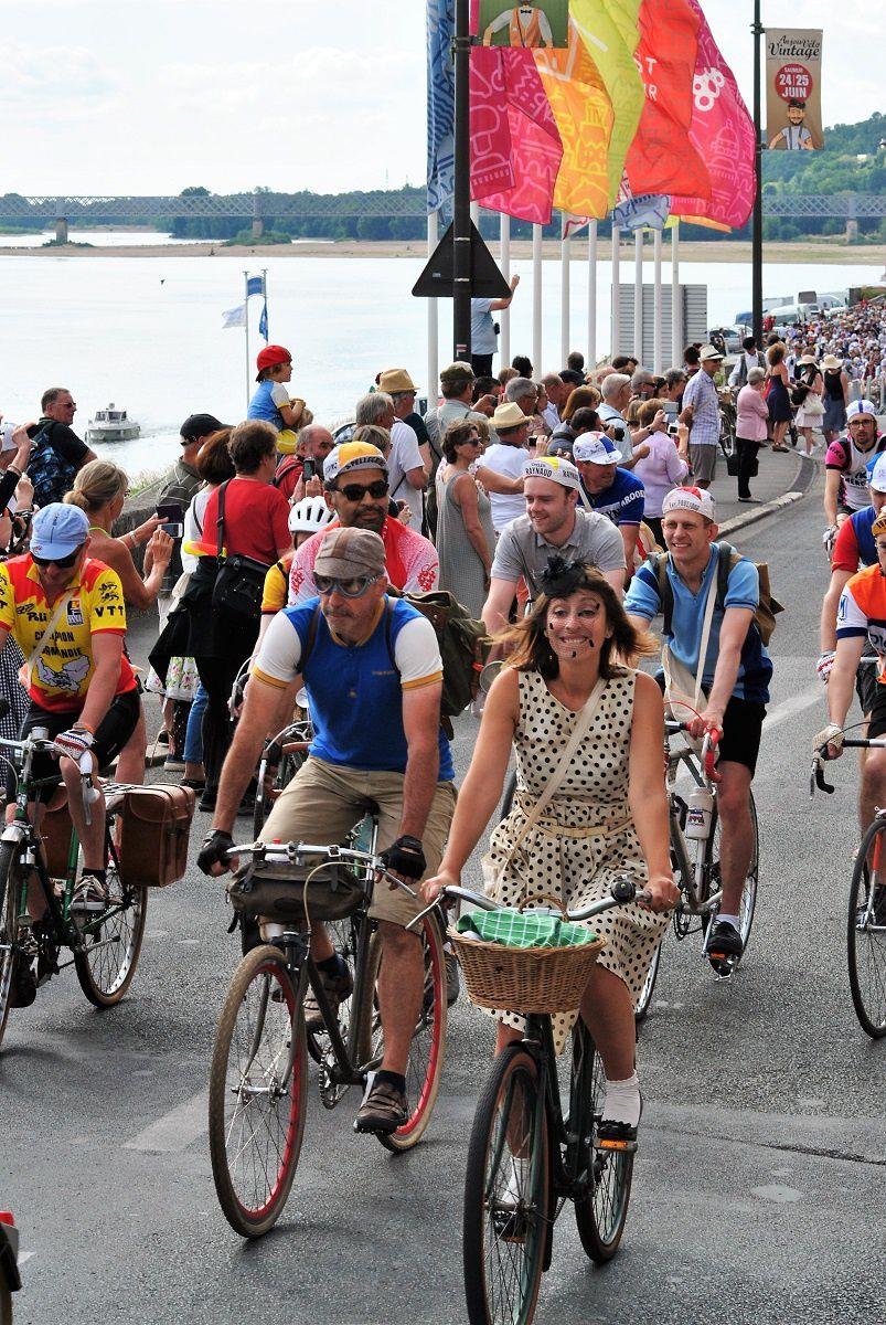 Saumur: Fete Anjou Vélo Vintage. (Photo prise le 24.06.2017).