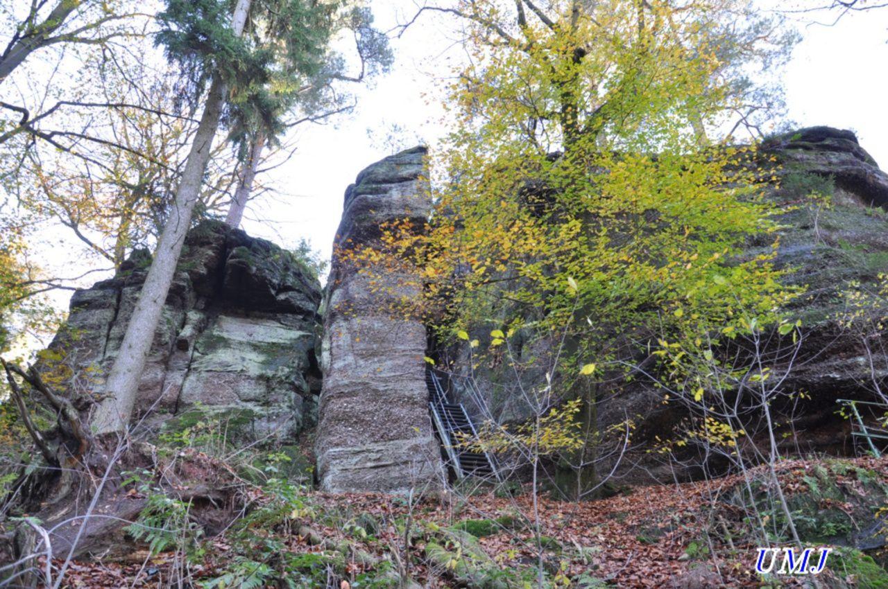 Rocher du pt moulin et son escalier