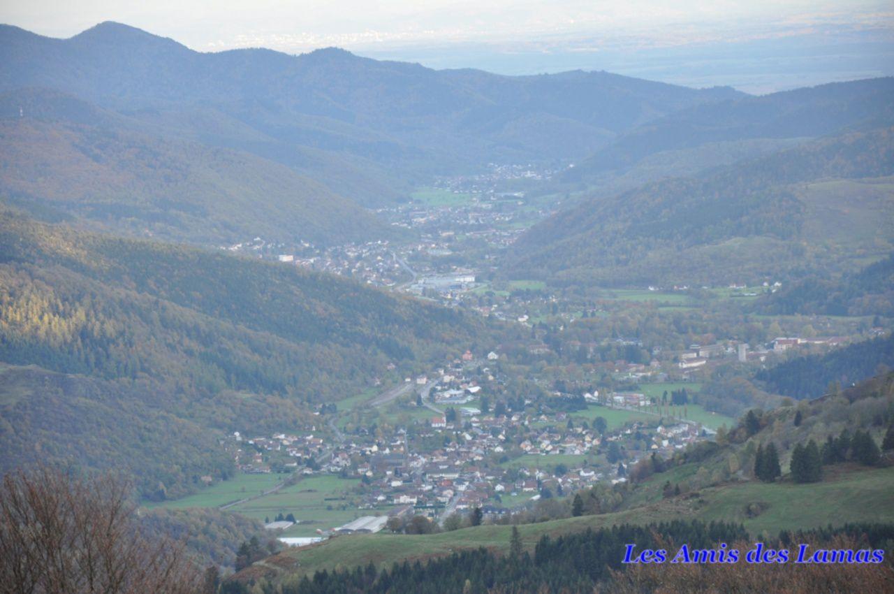 Vue sur Oderen et sa vallée