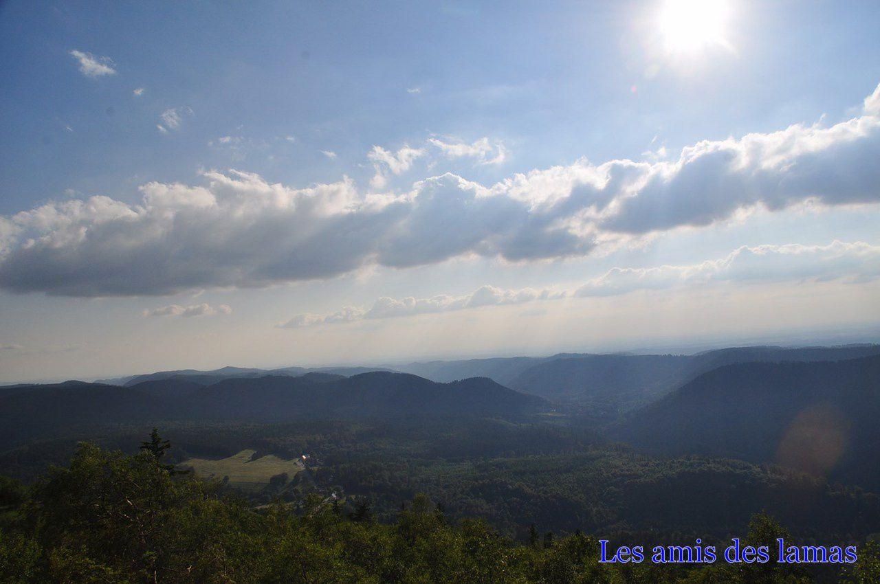 Vue sur la vallée de Celles