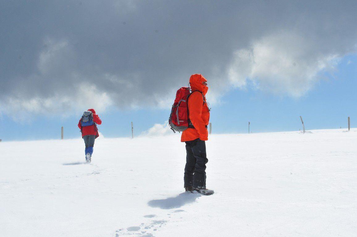 Notre montée au kastelberg dans le blizzard
