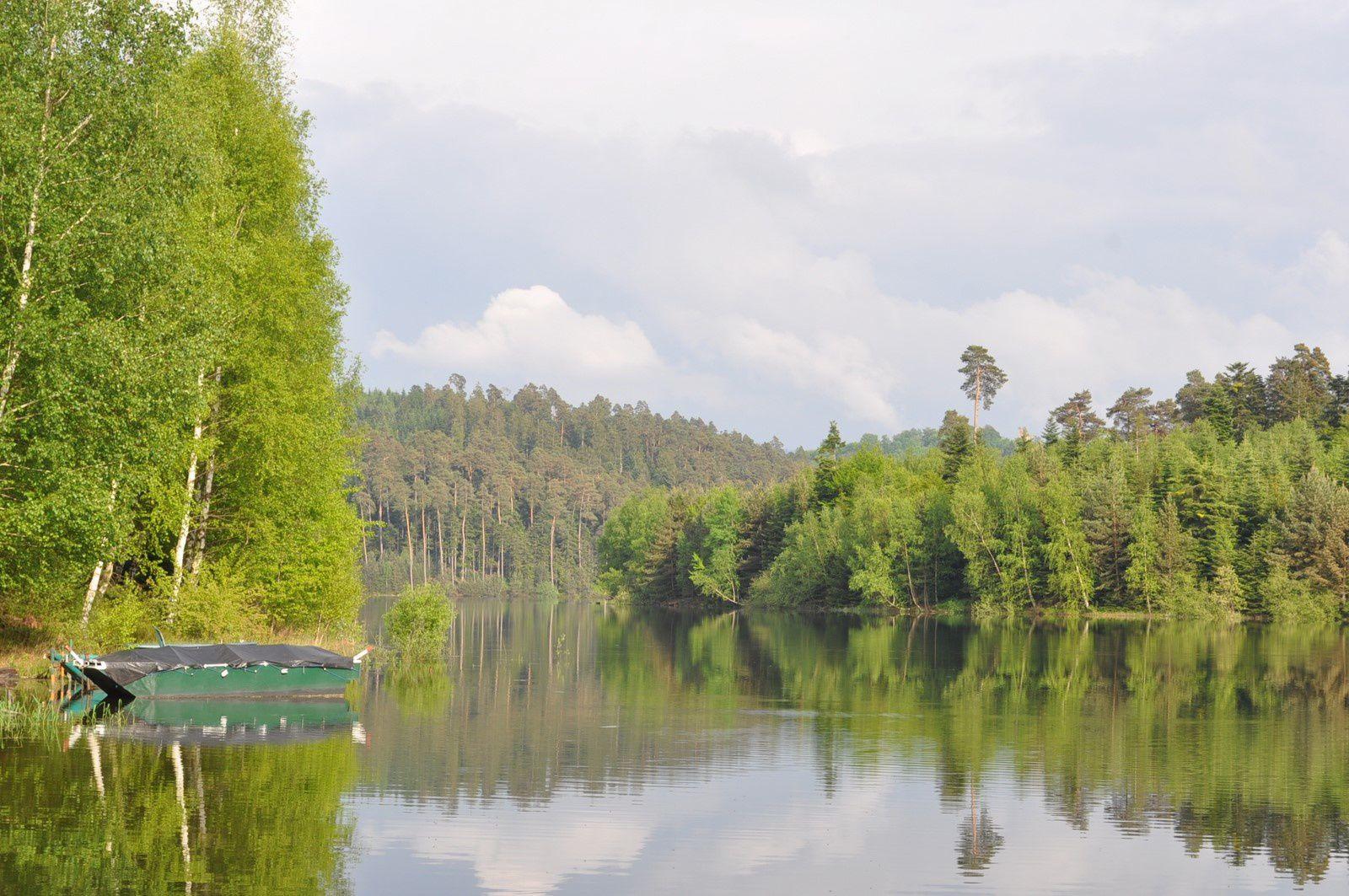 Le lac de Pierre Percée au Pré Barbier le 14/05/2015