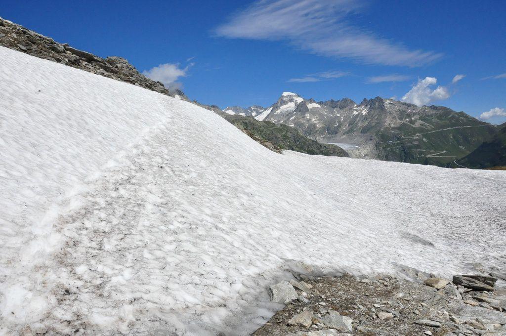 Il restait de très belles plaques de neige en ce début aout...quel plaisir !