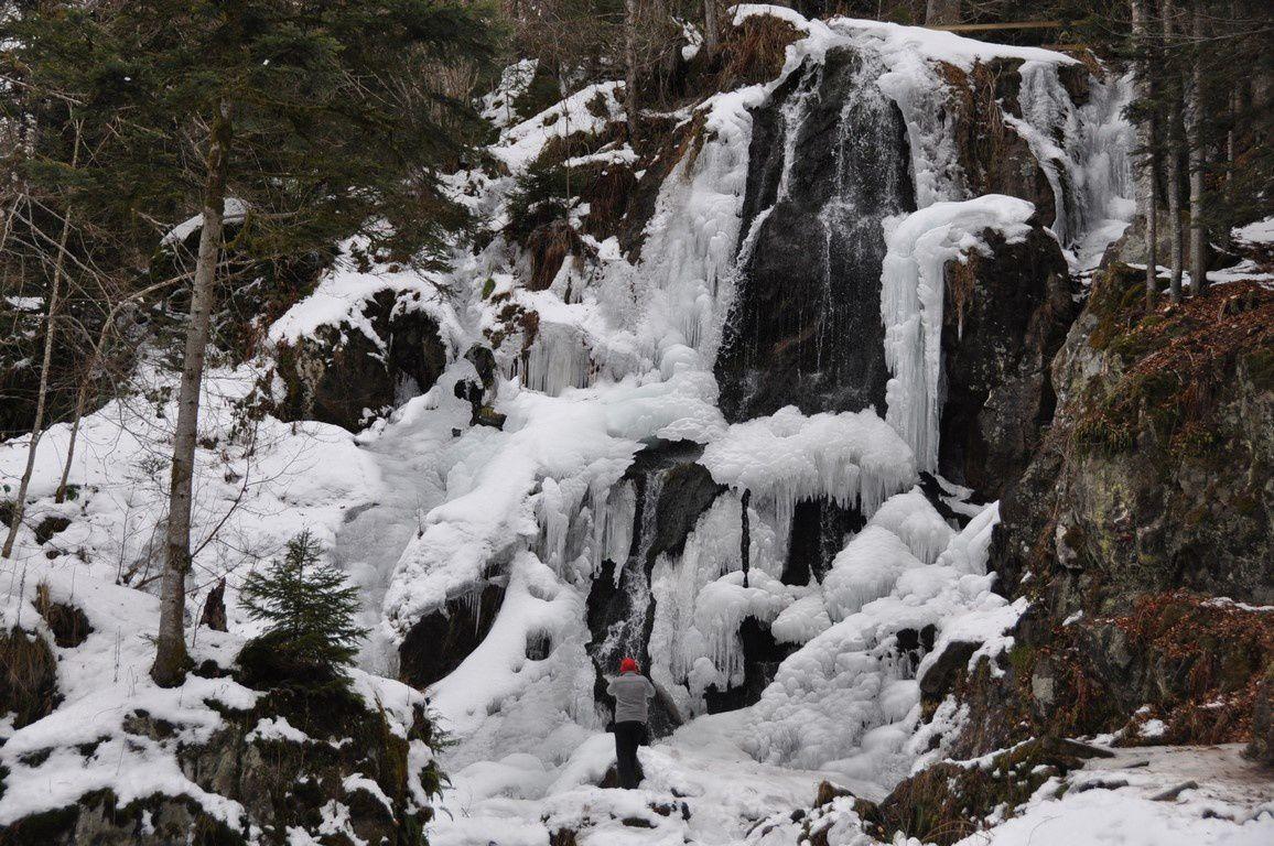 La cascade de l'Andlau dans toute sa beauté . Quel spectacle !