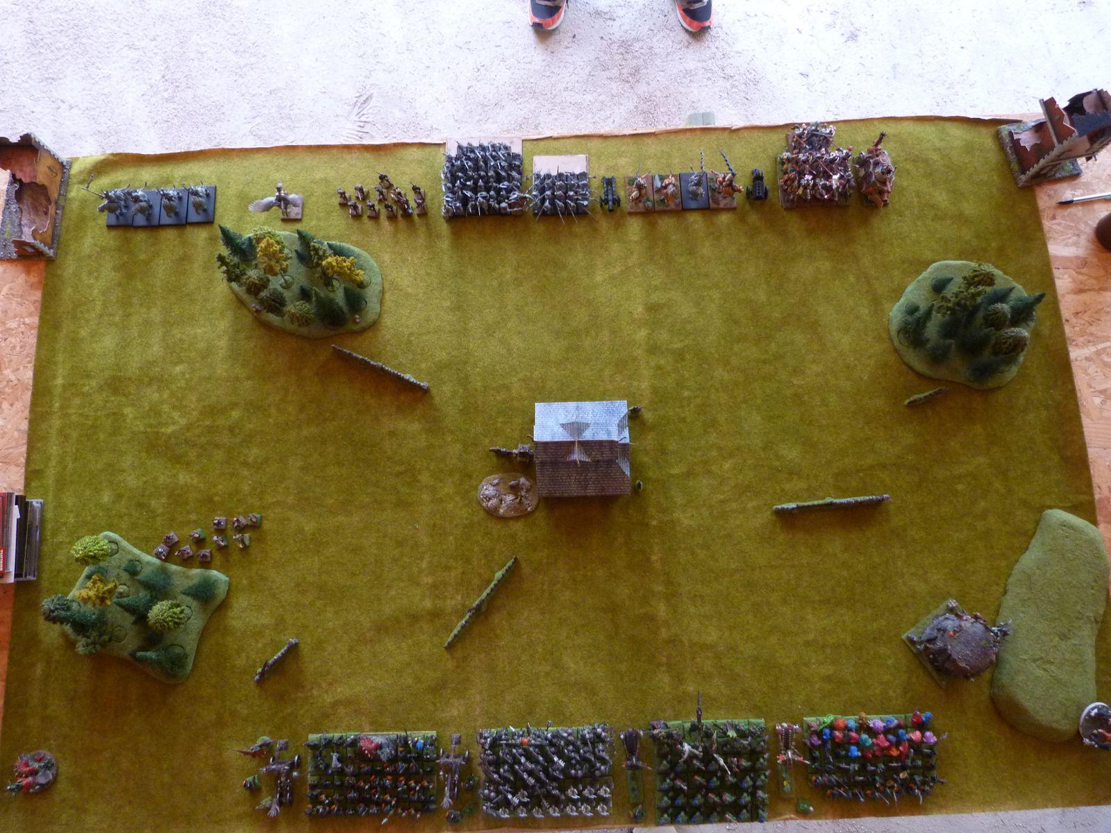 Belle vue du champ de bataille !