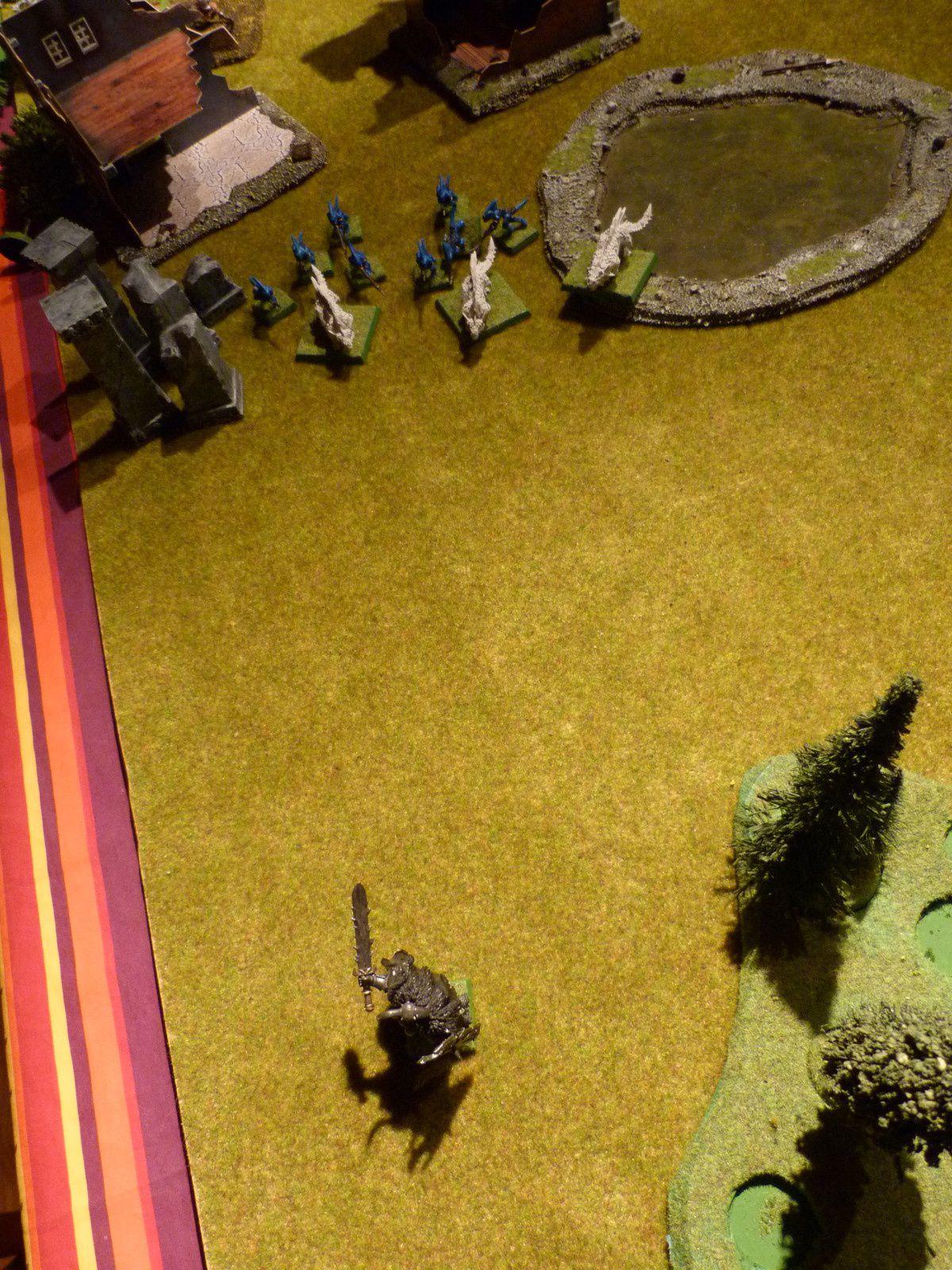 Wulfrik a le feu aux fesses et quitte le champ de bataille en courant !