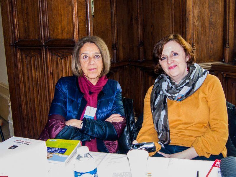 Mercedes Deambrosis en compagnie de Michèle Gazier lors du dernier Salon des Dames de Nevers