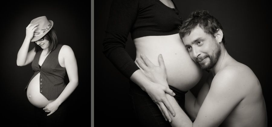 Marin et ses parents -portraitiste morbihan-