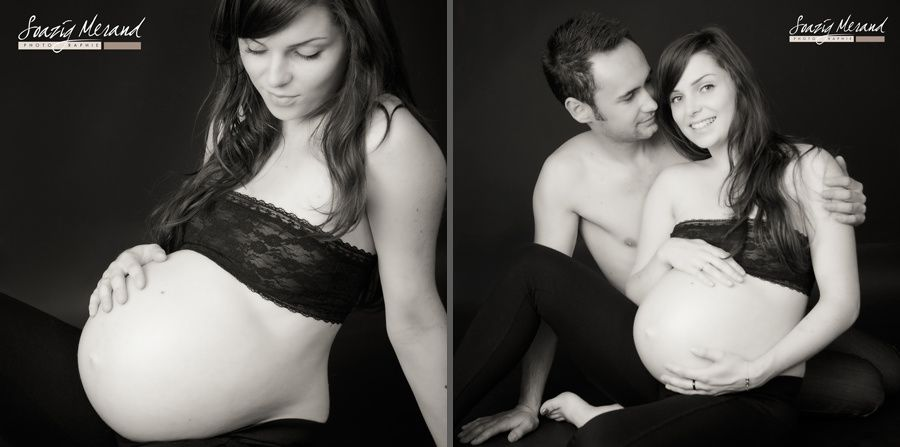 séance grossesse et naissance au studio de Soazig Merand Photographie