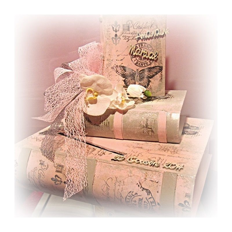 Le tutoriel de l 39 urne de mariage bo tes livre le blog de for Le livre de mariage