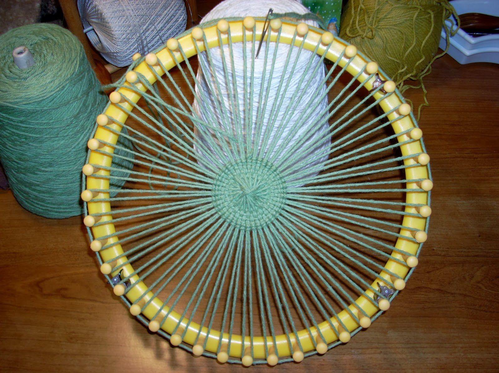 Le tissage au tricotin le blog de knifty de manue - Comment terminer un tricotin ...