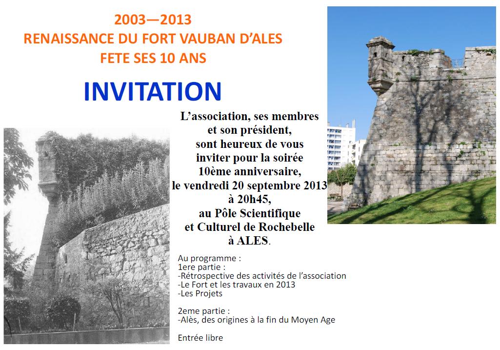 Renaissance du Fort Vauban d'Ales