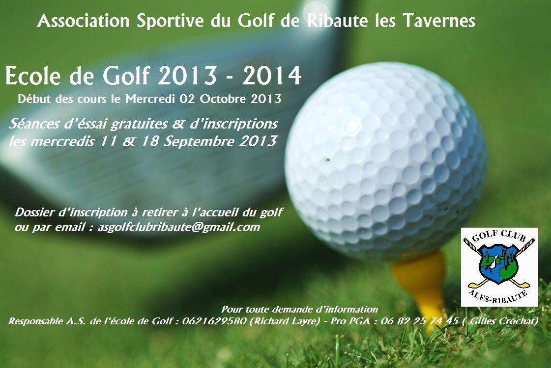 Ecole de Golf 2013 - 2014