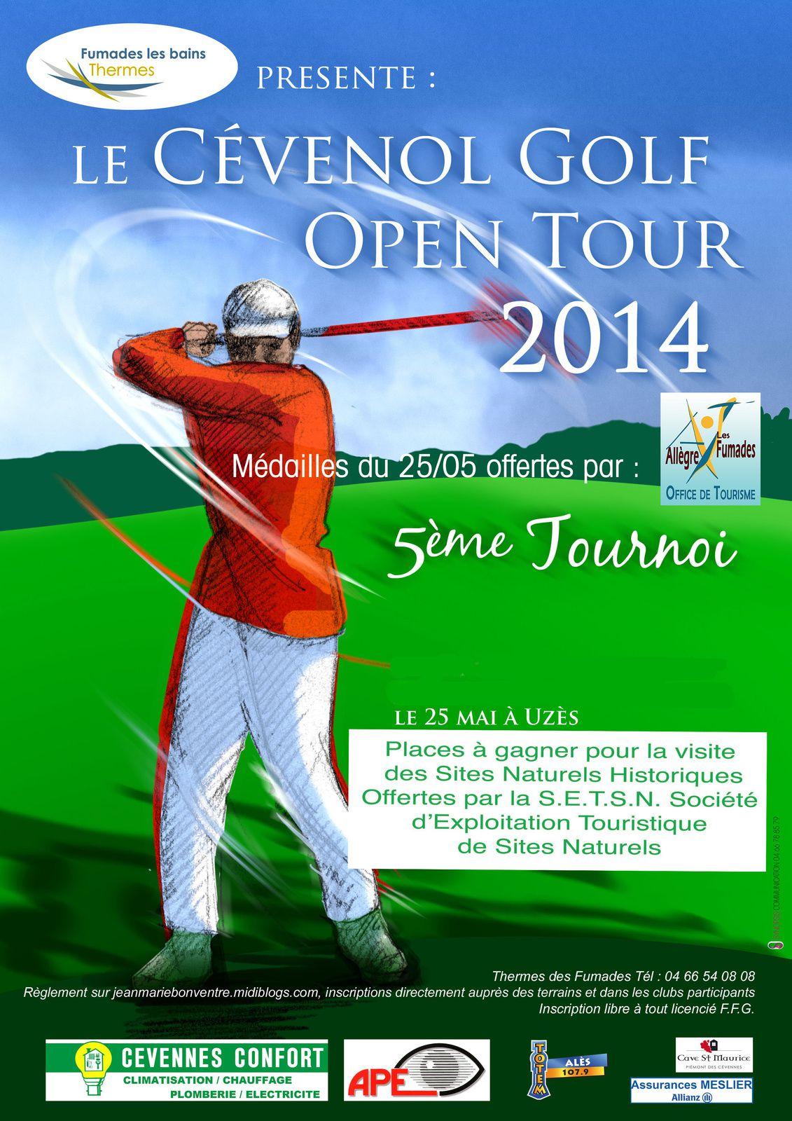Dimanche le Cévenol Golf Open Tour à Uzès