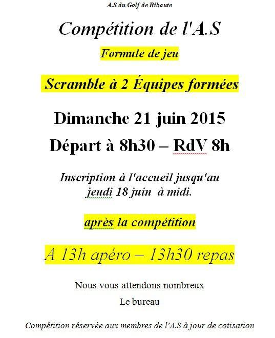 Compétition AS de l'été le 21 Juin 2015