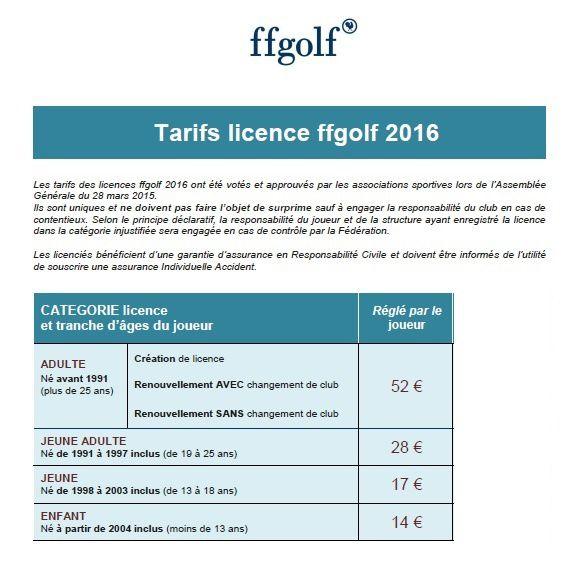 Licences 2016