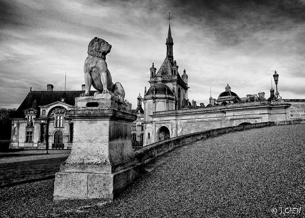 &quot&#x3B;Chantilly en noir et blanc&quot&#x3B;