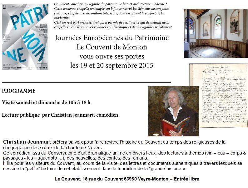 Journées européennes du patrimoine. Le Couvent ouvre ses portes