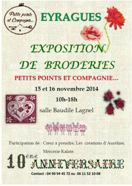 Exposition broderie à Eyragues