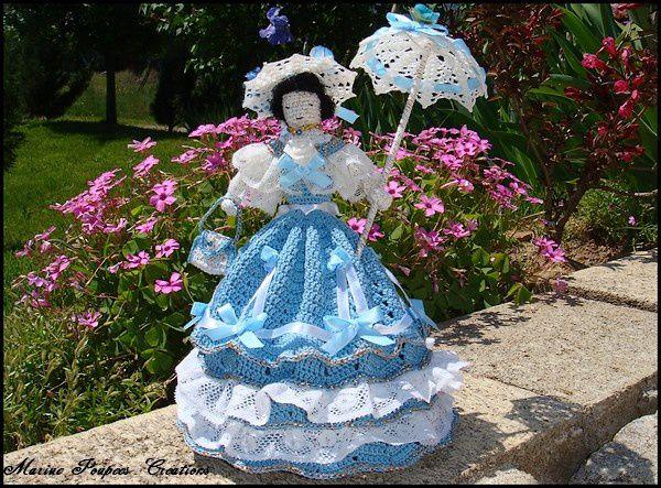 La poupée romantique en été