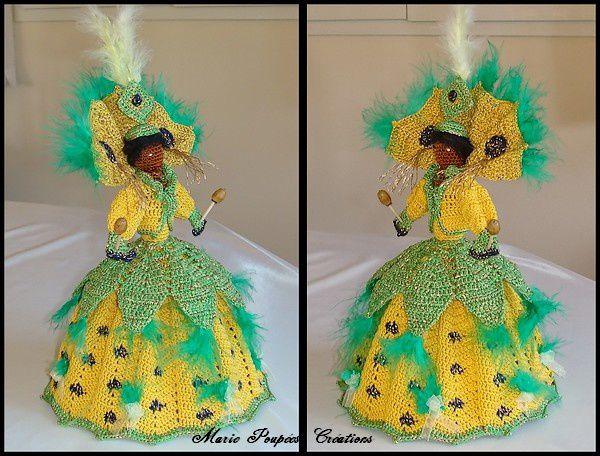 Brésil , les poupées carnaval de RIO