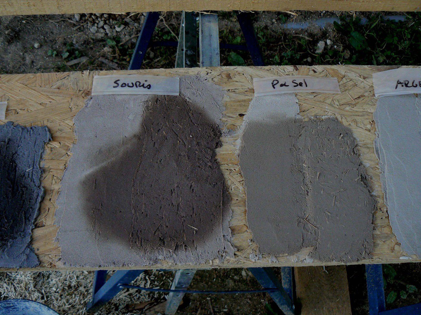 Enduits terre, épisode 7, test de couleurs