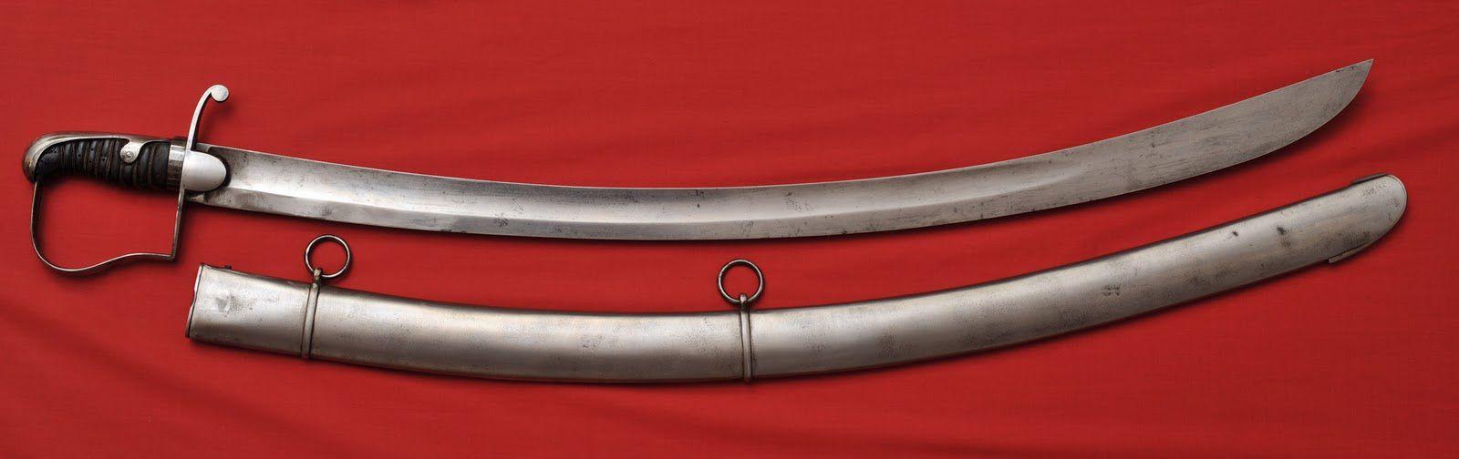 le sabre anglais modèle 1796, de pietre conception, cette arme handicapait le combattant par ses défauts